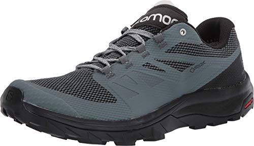 Salomon Outline Gore-Tex (impermeable) Mujer Zapatos de trekking, Gris (Stormy Weather/Black/Lunar Rock), 36 EU