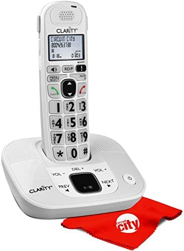 Clarity D714 Moderate Hearing Loss Cordless Amplified Phone with Circuit City Microfiber Cleaning product image