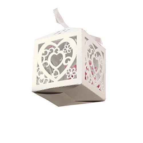 JUSTFOX - gastgeschenkdoos, bruiloftsdoos, bonbon box 5 Stück Model Hart