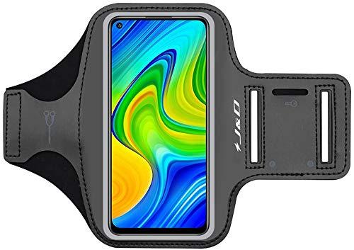 J&D Compatible para Redmi K40 Gaming/Note 9/9 Pro/9T 5G/8 Pro/8T/Redmi 9/9T/Xiaomi Poco F3/X3 Pro/X3 NFC Brazalete Deportivo para Correr, Ranura para Llaves, Conexión Auriculares