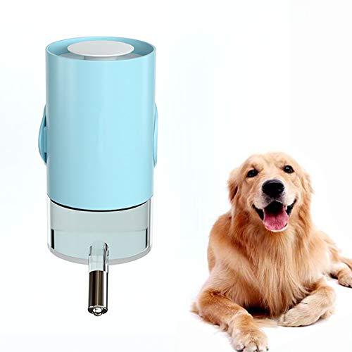 Ifukens ペット 給水器 ペットボトル 水飲み器 猫犬小動物用 ケージアクセサリー 水飲み ペットボトル 自動給水器 吊り下げボトル 漏れない みずのみ器 散歩 留守番対応ボトル 500ML /700ML(s:17*11*7.5cm,ライトブルー)