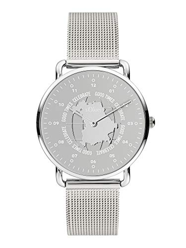 s.Oliver Damen Analog Quarz Uhr mit Edelstahl Armband SO-3963-MQ