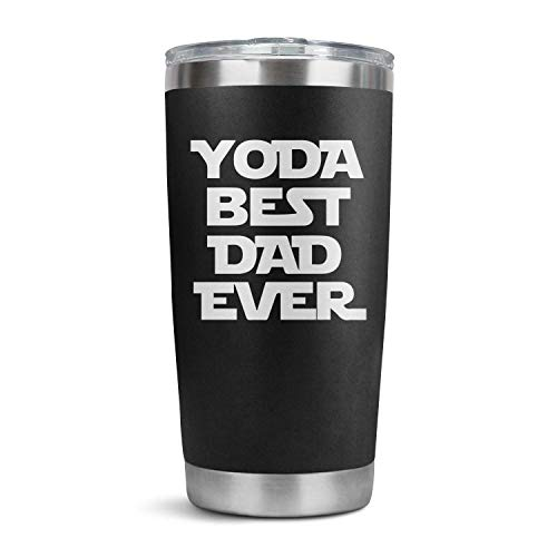 Yoda Best Dad Ever Simple Modern 20 Oz Tumbler with Straws and Lids, Ice Coffee Tumbler, Travel Mug Vacuum Insulated Coffee Beer Pint Cup Stainless Steel Water Bottle