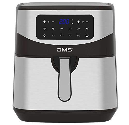 DMS XXXL 7 Liter Heißluftfritteuse | fritteuse | Backofen | Heißluftgrill | Cooker | fettfrei und ohne Öl | inklusive 10 Programmen und digitalem Touch Display | 1800 Watt | Timer | HF-7S
