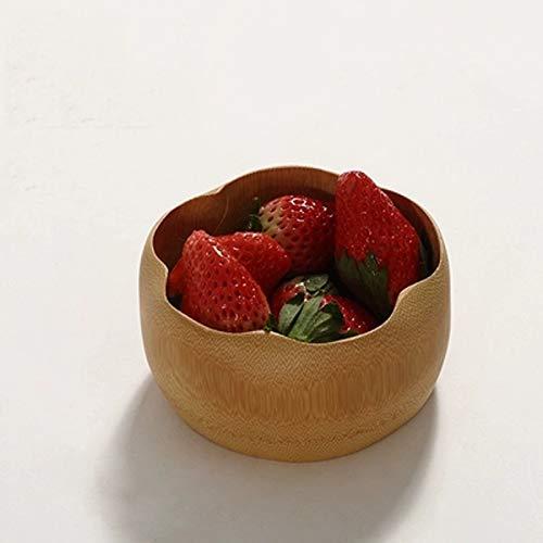 O&YQ Cuencos de Almacenamiento para el Hogar Cuenco de Frutas, Cuenco de Hojas de Loto Tallado con Raíz de Bambú, Cuenco de Té con Plato de Frutas Secas, Estante para Bocadillos, Canasta de Dulces