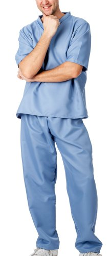 spass42 Damen Herren Kostüm Unisex Krankenpfleger Krankenschwester Chirurg OP Anzug Kittel Doktor Arzt Groesse: S/M