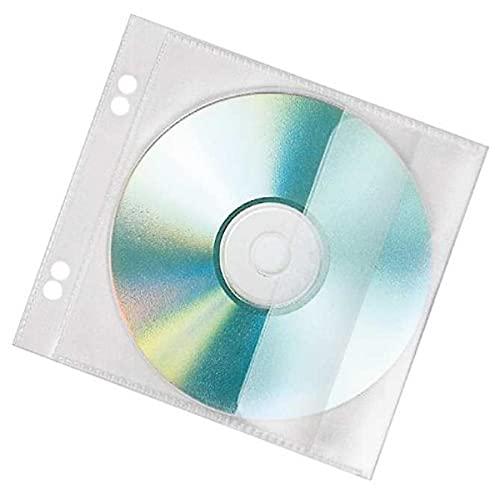 Veloflex 4366000 CD/DVD Hüllen zum Abheften für 1 CD, CD Aufbewahrung CD Schutzhüllen CD Boxen, 10er Packung
