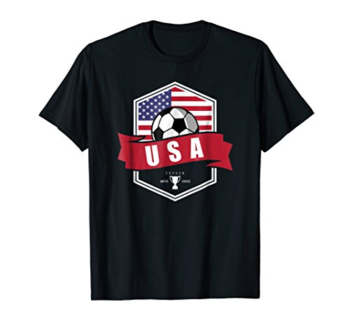 USA Soccer Team T Shirt American Patriotic Fan Player Cup