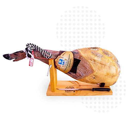 Generica - Paleta de Bellota ibérica 50% raza ibérica de 5 kg a 5,5 kg + Jamonero GRATIS - PRP_0120 - Paleta Ibérica de Bellota etiqueta roja 50% de 5 kg a 5,5 kg + Jamonero y cuchillo GRATIS