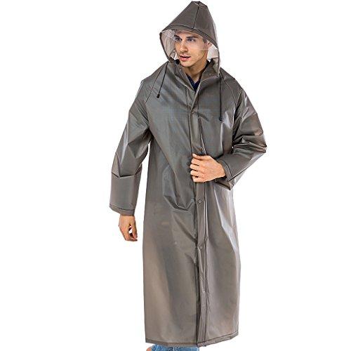 Imperméable JCOCO Adulte Hommes et Femmes Sac à Dos général Poncho de randonnée, matériau réutilisable EVA portatif (Couleur : Gray, Taille : XL)