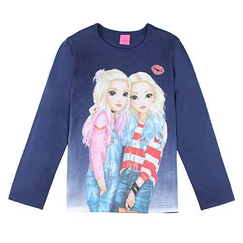 Top Model Mädchen T-Shirt, Langarmshirt, blau, Größe 140, 10 Jahre