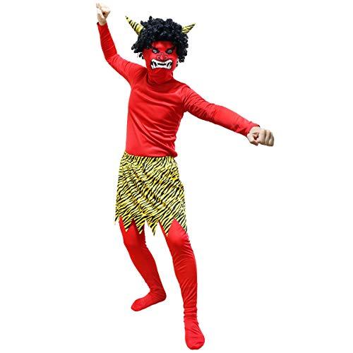 【 フルセット 】monoii 鬼 コスプレ 節分 おに 衣装 赤鬼 コスチューム メンズ 豆まき 仮装 節分の日 d567