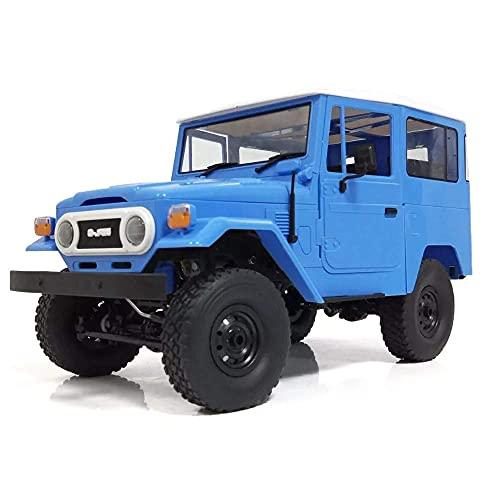 ykw Regalo di Compleanno per Bambini WP-L C34 1/16 RTR 4WD 2.4G Buggy Crawler off Road RC Car 2CH Modelli di Veicoli con Luce Frontale Doppia Batteria in plastica Blu Doppia Alimentazione