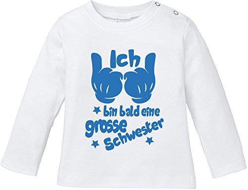 EZYshirt EZYshirt® Ich bin Bald eine Grosse Schwester Baby T-Shirt Longsleeve