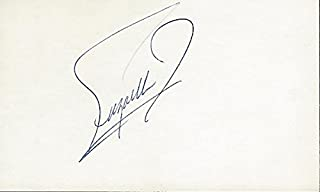 Fuzzy Zoeller Autographed Golf 3x5 Inch Index Card - 1979 Masters Champion - 1984 U.S. Open Winner