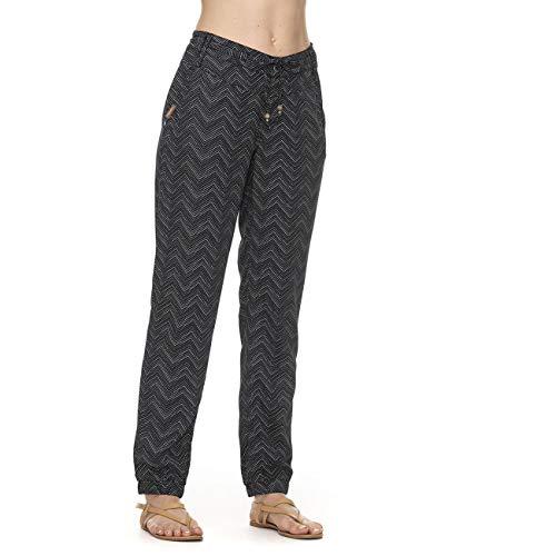 Ragwear W Talin Zig ZAG Schwarz, Damen Hose, Größe 26 - Farbe Black