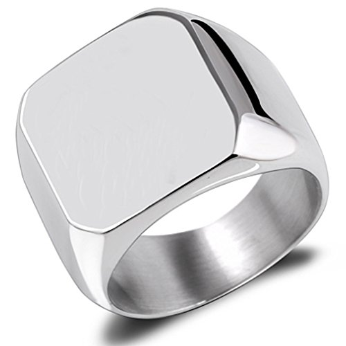 Our #5 Pick is the Van Unico Stainless Steel Signet Ring