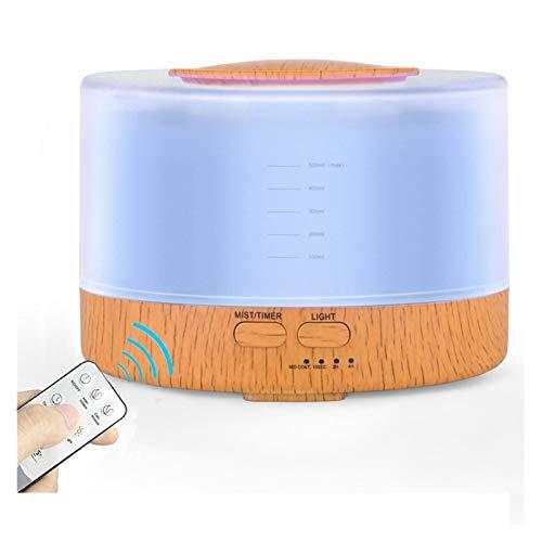 LAKYT Humidificador 500 ml Control Remoto Humidificador Fogger Aromaterapia Aceites Esenciales Difusor Nebulizador portátil LED Lámpara Aroma Ambientador Casa (Plug Type : AU Plug)