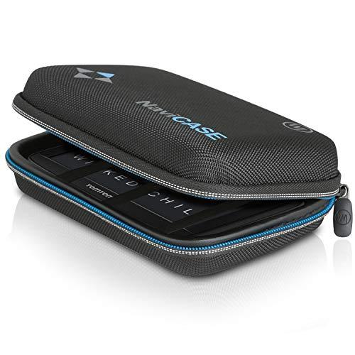 Wicked Chili Schutztasche für Navigationsgerät kompatibel mit Garmin Drive & kompatibel mit Tomtom - Hülle für Navigationsgeräte mit 4.3/5 Zoll Bildschirm (max. Größe 15 x 10 x 4.5 cm) schwarz