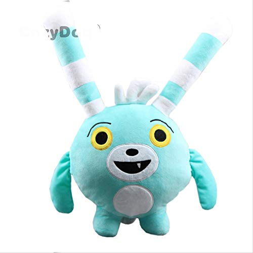 N-L Anime Abby Hatcher Bozzly Bunny Plush Figure Toy Cute Blue Rabbit Peluches Muñeca- 20 Pulgadas 50 cm