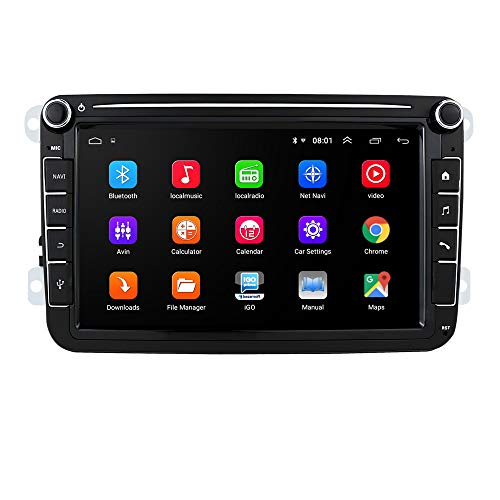 Android 10 OS 8 pollici 2 Din autoradio Moniceiver GPS Bluetooth navigazione per Volkswagen Golf Passat sedile Skoda Polo Amarok Jetta T5 Transporter