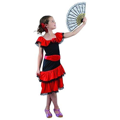 Generique - Flamenco Kostüm für Mädchen 134/140 (10-12 Jahre)
