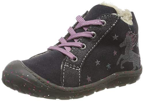 Lurchi Baby Mädchen Gloria Sneaker, Grau (Charcoal 25), 24 EU