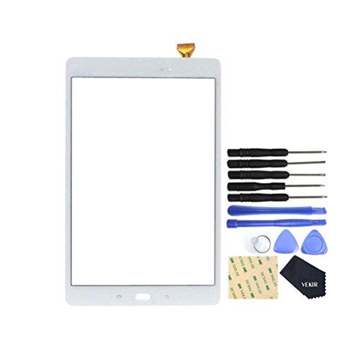 VEKIR Pantalla táctil de reparación de Vidrio para Samsung Galaxy Tab A 10.1 (2016) T580(Blanco)