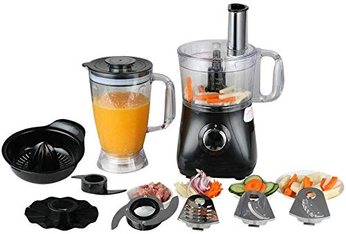 Food Processor,Stand Mixer 12 Cups Pro 1200 Mixer & Multi-Function Stand Mixer Attachment 3 Speed Options, 5 Cutting Blades & 1 Disc, Safety Interlocking Design 500 W