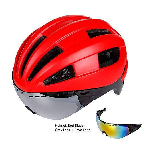 Adult Helmets Mountainbike Fahrrad Helm, leichtes Fahrradhelm, MTB Helm für Erwachsene, Verstellbarer Mountain- und Rennradhelm mit Abnehmbarer Visier