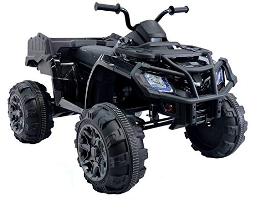 fit4form Quad ATV Black Offroad Monster 24V Elektroquad für Kinder Kinderfahrzeug Kinderquad