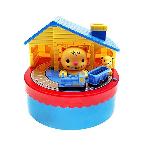 PPuujia Hucha electrónica para ratones y gatos, con caja de ahorro de monedas de música, juguete de escritorio para cumpleaños de niños (color amarillo
