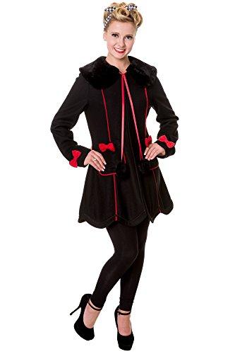 Banned Bows Coat 1914 - Abrigo Negro L