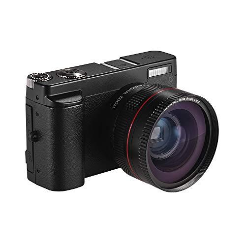 TPOTOO Cámara Digital portátil Full HD 1080P 24MP DC con Pantalla de 3 Pulgadas. Captura de Fotos y Video Zoom Digital 16X Conexión WiFi Múltiples Idiomas Detección de rostros Función de Belleza