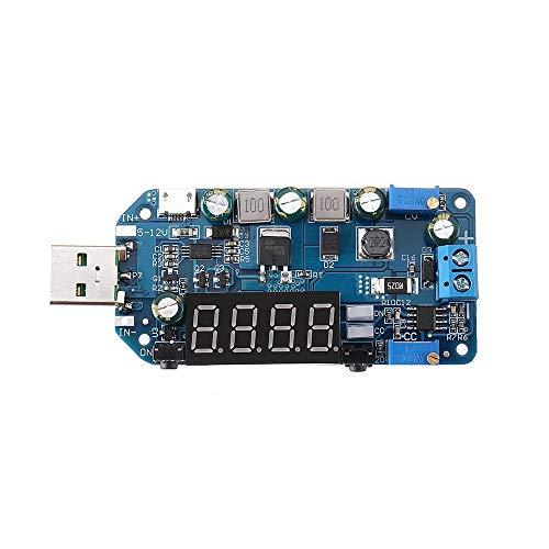 QinMei Zhou USB Boost módulo 5 V a 9 V12 V módulo de aumento de voltaje ajustable pantalla actual carga router convertidor sin Shell