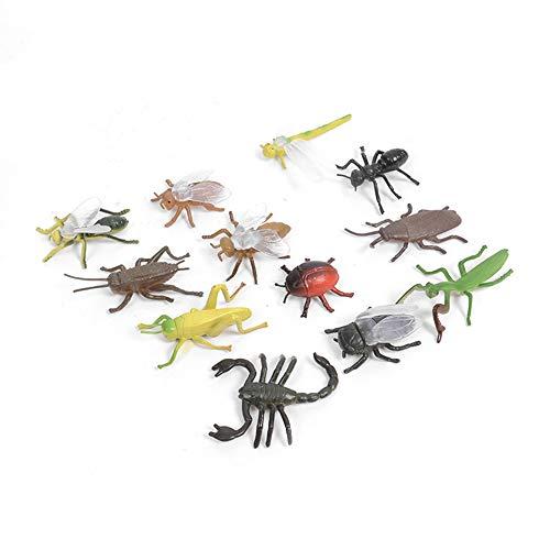 PULABO プラスチック昆虫のおもちゃ動物フィギュアトリッキーな小道具子供のためのトリッキーな小道具12個セットスポータブル 使い心地がよい シンプルで洗練された