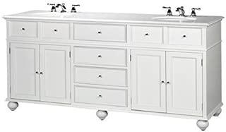 Home Decorators Collection Hampton Bay Double Sink Cabinet Bath Vanity with Granite Top White 35