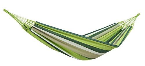 AMAZONAS XXL hangmat Colombiana Oliva 240cm x 160cm tot 200kg in groen gestreept