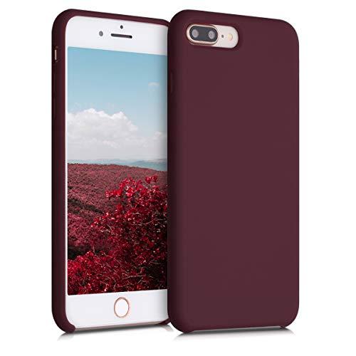 kwmobile Funda Compatible con Apple iPhone 7 Plus / 8 Plus - Carcasa de TPU para móvil - Cover Trasero en Rojo Vino