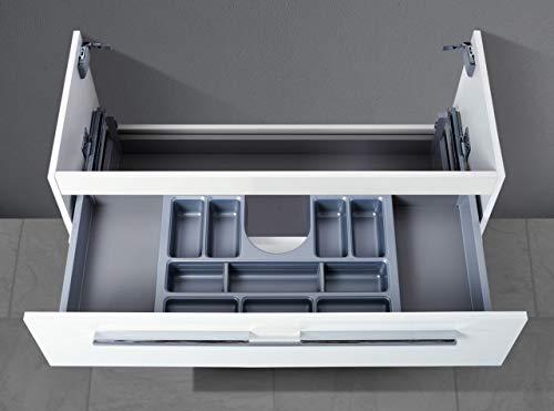Intarbad ~ Waschtisch Unterschrank zu Villeroy & Boch Avento Waschtisch 100 cm, mit Kosmetikeinsatz Waschbecken Kaschmir Hochglanz Lack IB5373