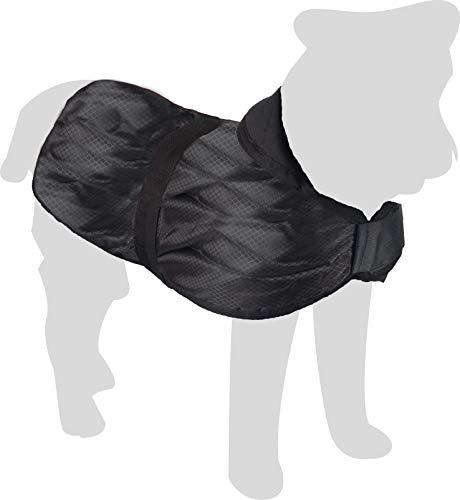 Karlie 5232244 Hundemantel Eisbär L: 40 cm schwarz 1 Bauchgurt