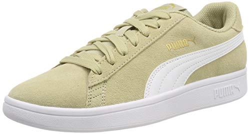PUMA Unisex-Erwachsene Smash V2 Sneaker, Beige (Elm-Puma White-Puma Team Gold), 44 EU