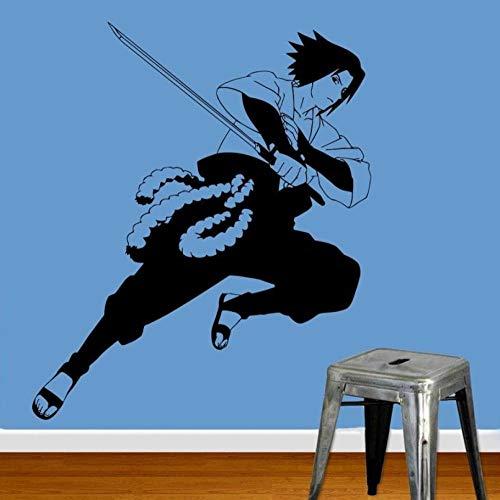 Effekt Wandtattoo- Anime Manga Naruto Sasuke Wandaufkleber 56X88Cm/Aufkleber/Durchbruch/Selbstklebendes Wandbild/Wandsticker/Stein/Wanddurchbruch/Wandaufkleber/Tattoo