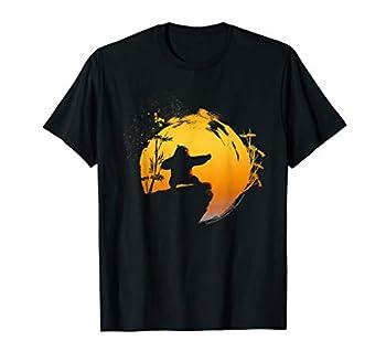 Kung Fu Panda Po Tai Chi Sunset Silhouette T-Shirt