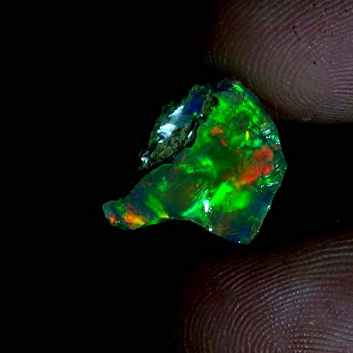 aurora opal rough black opal rough large raw opal raw uncut opal gemstone jewelry emerald ring gemstone rings green stone02.70Cts. Natural Ethiopian Multi Fire Opal Rough 11x13x05mm. Gemstones SM17-18