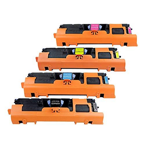 Consumibles originales Q3960A Q3961A Q3962A Q3963A Cartucho de tóner a color Compatible con HP Color LaserJet 2550L 2550LN 2550N 2820 2840 Impresora láser a color 122A Cartucho de tinta-fullset