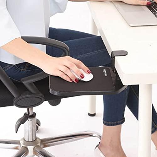MYAOU Alfombrilla de ratón ergonómica giratoria Extensor de Escritorio de computadora Ajustable Extensor de reposabrazos Reposabrazos Soporte de Estante, Liberar el estrés,Negro