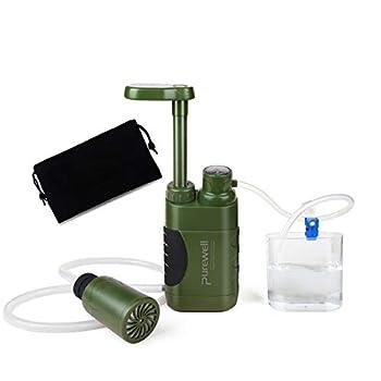 Filtre à Eau Portable,0.01Micron 4 Etapes système de Filtration d'eau, Enlèvent 99,9999% de substances nocives Urgence Personnel Purificateur d'eau pour Extérieur Randonnée Camping Voyage