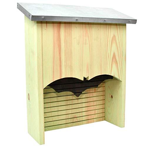 SIDCO Fledermauskasten groß Fledermaus Nistkasten Brutkasten Unterschlupf Holz
