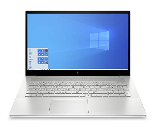 HP - PC Envy 17-cg0004nl Notebook, Intel Core i7-1065G7, RAM 16 GB, SSD 256 GB, SATA 1 TB, Nvidia GeForce MX330 4 GB, Windows 10 Home, Schermo FHD IPS 17.3', Lettore Impronte Digitali, USB-C, Argento